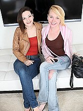 Tegan Mohr & Caroline smiling for the camera